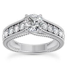 Braided Fancy Trellis 1.82 Carat H VS2 Round Cut Diamond Engagement Ring 14k