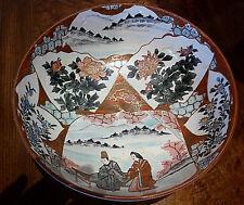 Kutani Bowl - Meiji - Wonderful Example - 35cm diameter
