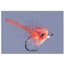 (2) Jan's Puff Daddy Orange #4 Bass/Panfish Fly by Rainy's New Free Shipping