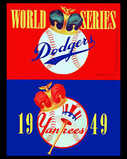 1949 World Series - (Yankees & Dodgers) Program Poster - 8x10 Color Photo