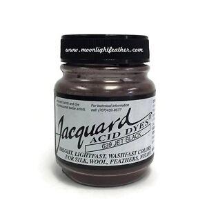 1/2 Oz Jet Black Jacquard Acid Dyes Feathers Wool cashmere alpaca non-bleeding
