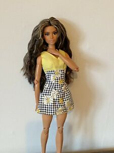 "Barbie Doll Clothes Daisy Print Summer Dress 12"" Fashion"