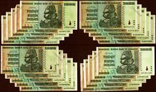 Zimbabwe 20 Billion Dollars x 20 Banknotes 2008 AA/AB Circulated Before Trillion