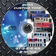 4.843 Patches BOSS GT 3,5,6,6B,8,10,10B. Multi Effects Processor. Custom Tone
