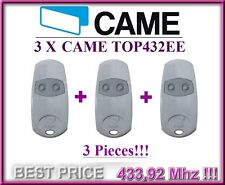 3 X Came Top432Ee remote controls, 433,92Mhz 2-channel key fobs. 3 pieces!