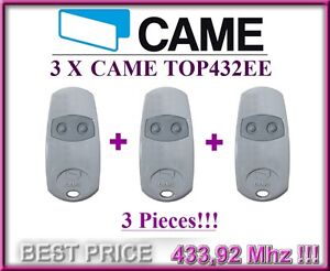 3 X CAME TOP432EE remote controls, 433,92Mhz 2-channel key fobs. 3 pieces!!!