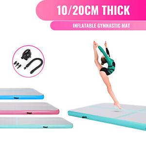 3/4/5/6m 10/20cm Inflatable Mat Gymnastics Tumble Mats with Air Pump
