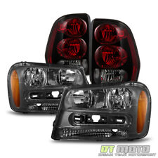 2002-2009 Chevy Trailblazer Replacement Headlights +Tail Brake Lamps Set 02-09