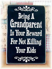 """Being A Grandparent, Retro metal Sign/Plaque, Gift, Home 10"""" x 8"""" Large"""