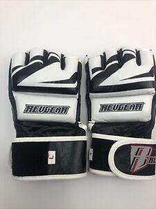 RevGear Men's MMA Gloves Krav Boxing Combatives - Barely Used Black White Large