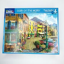 White Mountain Puzzles CAFE ON THE WATER 1000 Pieces Jigsaw Puzzle Ages 12+