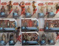 """Star Wars FORCE LINK 3.75"""", C-3P0, Luke, Kylo Ren, Rey, Obi-Wan Kenobi, Yoda."""