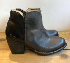 Bed Stu Women's Smoke Grey Yell Booties Round Toe Size 6 Boots USA Leather