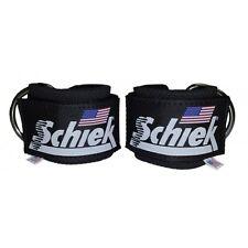 Schiek Ankle Straps Cuffs 1 Pair Black Model 1700 D Ring Cable Attachment Cuff