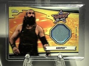 WWF WWE 2019 Topps Authentic Mat Relic Card Luke Harper Summer Slam Event