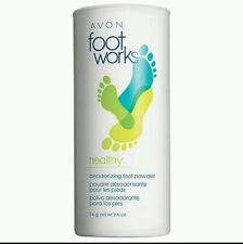 AVON FOOTWORKS HEALTHY DEODORIZING ANTIFUNGAL Smelly Feet POWDER 2.6oz TALC