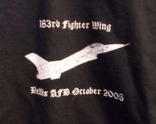 183rd FIGHTER WING 2005 Air Warrior T Shirt NELLIS AFB Gildan XL F-16 BRAC