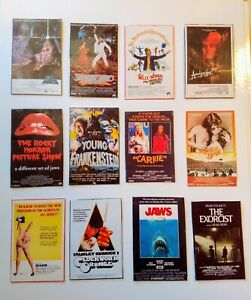 Dollhouse Miniature Set of 12 Iconic Vintage Movie Posters 1970's 1:12 Scale