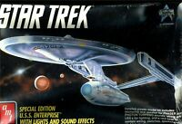 AMT ERTL Star Trek USS ENTERPRISE Lights + Special Edition NIB Model Kit M103