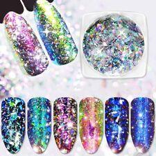 Nail Glitter Powder Sequins Flakes for Nail Art UV Gel Acrylic Tips Decoration