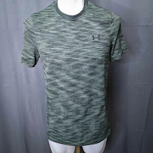 Under Armour Mens T Shirt Medium Green Threadborne Breathable Performance Gym