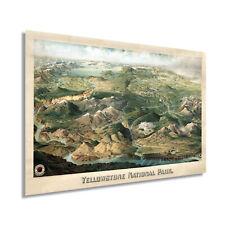 1904 Yellowstone National Park Poster - Vintage Yellowstone Wall Art Map Print