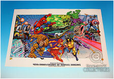 Marvel Origins 40th Anniversary Lithograph Stan Lee Tom Grindberg Smith Heroes