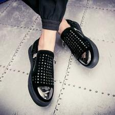 Men's Party Pumps Loafers Shoes British Slip on Shiny Breathable Non-slip US9.5