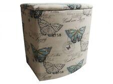 Wäschebehälter Butterfly groß Wäschekorb mit Polster Wäschetruhe Wäschesammler W