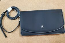 Crossbody Clutch with Leather Interior BLACK Victoria 2.0