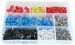 1200pc Insulated Cord Wire End Terminal Set Colour Coded Wire Ferrules 0.5-10mm2