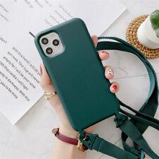 2021 Soft TPU Phone Case Adjust Lanyard Crossbody Cover for 11 Pro/XS/12 Pro Max