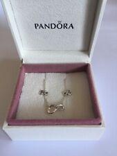 Pandora Sparkling Infinity Collier Necklace & Earrings Set In Pandora Box