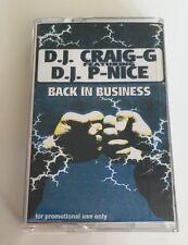 Vintage 90s Hip Hop Cassette DJ Craig G Feat DJ P Nice Back In Business Mixtape