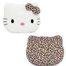 Hello Kitty Face Cushion Leopard Brown Pillow Plush Back Cushion Home Car