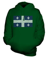 QUEBEC STATE SCRIBBLE FLAG UNISEX HOODIE TOP GIFT FOOTBALL