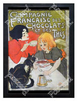Historic French chocolate 1890s Advertising Postcard