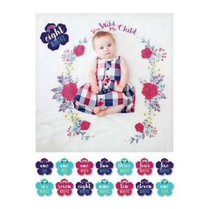 lulujo Baby Baby's First Year Blanket and Card Set, Stay Wild My Child