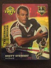 NRL Smith's Gold Footy Tazo 2007 36/64 Brett Stewart Manly Sea Eagles Card