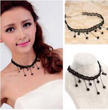 Fashion Sweet Womens Collar Choker Bib Beads Pendant  Necklace  Chain Jewelry W8