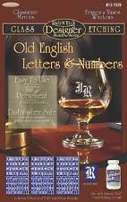 Armour RUB 'N' ETCH Old English Letters & Numbers, 3 Stencils, #12-7026
