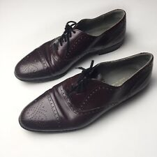 Henry Grethel Burgundy Lace Up Dress Shoes Mens Size 9.5B
