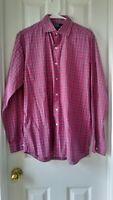 Men's Polo Ralph Lauren Red Plaid Long Sleeve Button Down Dress Shirt Medium M