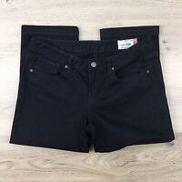 Jag Jeans Mid Rise Reg Fit Crop Capri Black Women's Jeans Size 13 W33 L22 (RR12)