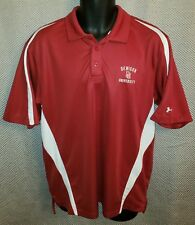 8dc6210d Denison University Big Red Under Armour Polyester Coach's Polo EUC - Mens M