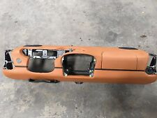 97-04 Porsche Boxster 986 911 996 Natural Brown LEATHER Dash Cover airbag