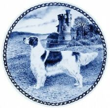 Lekven Danish dog plate picture plate imported directly Irish Setter Red White