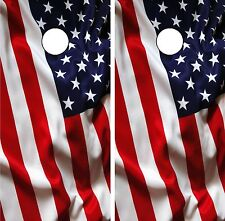 C193 American Flag Cornhole Board Wrap LAMINATED Wraps Decals Vinyl Sticker