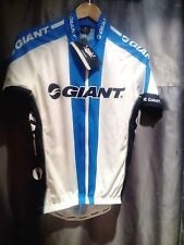 Giant Team Replica Short Sleeve Cycling Jersey .Blue and White With decals In Bl