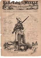 1879 Harpers Weekly - Nast- Democrats use force in the South to sway the vote